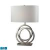 Trinity LED Table Lamp In Polished Nickel With Pure White Shade