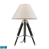 "Dimond 17-24"" Studio Adjustable LED Table Lamp in Chrome and Black"