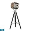 "Dimond 45-67"" Curzon Adjustable LED Floor Lamp in Chrome and Black"