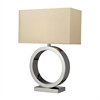Aurora Contemporary Circle Table Lamp In Chrome