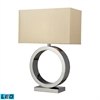 Aurora Contemporary Circle LED Table Lamp In Chrome