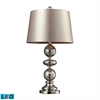 "29"" Hollis Antique Mercury Glass LED Table Lamp in Polished Nickel"