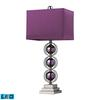 "27"" Alva Purple LED Table Lamp in Black Nickel"