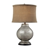 Stonebrook Table Lamp In Antique Mercury Glass With Burlap Shade