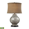 "Dimond 24"" Stonebrook Antique Mercury Glass LED Table Lamp"