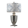 Langham Table Lamp In Antique Mercury Glass And Polished Chrome