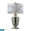 "Dimond 31"" Langham Antique Mercury Glass LED Table Lamp in Polished Chrome"