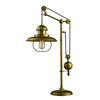 "32"" Farmhouse Table Lamp in Antique Brass"
