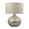 "25"" Canaan Ceramic Table Lamp in Cream Pearl"