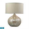 "Dimond 25"" Canaan Ceramic LED Table Lamp in Cream Pearl"