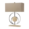 "Dimond 23"" Shiprock Bleached Wood Table Lamp in Chrome"
