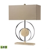 Shiprock Bleached Wood LED Table Lamp in Chrome