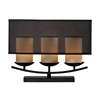 Bakersfield 3 Light Candle Lamp In Bronze Paint Finish