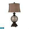 "Dimond 29"" Grants Pass Antique Mercury Glass LED Table Lamp in Bronze"