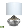"Dimond 20"" Frosted Finish LED Table Lamp in Silver"