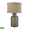 "29"" Belholt Antique Mercury LED Glass Table Lamp"