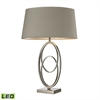 "Dimond 27"" Hanoverville LED Table Lamp in Polished Nickel"