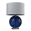 "Dimond 25"" Blown Glass Table Lamp in Sapphire Blue"