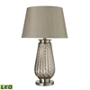 "Dimond 30"" Fallhurst  Barley Twist Smoked Glass LED Table Lamp in Brushed Steel"