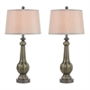 "31"" Sailsbury 2-pack Table Lamps in Georgia Grey Glaze"