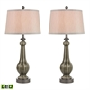 Sailsbury LED Table Lamps in Georgia Grey Glaze - Set of 2
