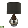 "22"" Antique Mercury Glass LED Table Lamp in Gold"