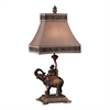 "Dimond 24"" Alanbrook Elephant & Monkey Table Lamp in Bronze"