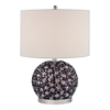 Dimond Lighting Amethyst Stone Bejewelled Table Lamp Amethyst,Clear