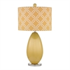 Sevenoakes Table Lamp In Sunshine Yellow And Polished Nickel