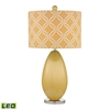 "25"" Sevenoakes Glass LED Table Lamp in Sunshine Yellow"