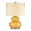 "Dimond 24"" Tavistock Glass Table Lamp in Sunshine Yellow"