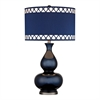 "28"" Heathfield Glass Table Lamp in Navy Blue"