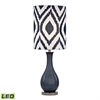 "Dimond 24"" Hitchin Ceramic LED Table Lamp in Navy Blue"