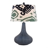 "Dimond 26"" Penarth Ceramic Table Lamp in Navy Blue"