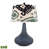 "Dimond 26"" Penarth Ceramic LED Table Lamp in Navy Blue"