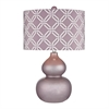 Ivybridge Ceramic Table Lamp in Lilac Luster