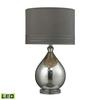 "24"" Bubble Glass LED Table Lamp in Mercury"