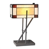 "Dimond 20"" Fortwilliam Tiffany Glass Table Lamp in Matte Black"