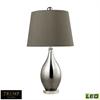 "Dimond TRUMP HOME 25"" Mercury Tie Dye Teardrop LED Table Lamp in Silver Mercury"