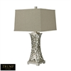"Dimond TRUMP HOME 29"" Woven Metal Thread Table Lamp in Silver Leaf"
