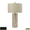 Trump Home Herringbone LED Table Lamp In Natural Mother of Pearl
