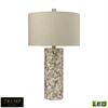 "TRUMP HOME 29"" Herringbone Mother of Pearl LED Table Lamp"