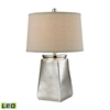 Tapered Square LED Table Lamp in Silver Mercury
