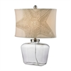 "Dimond 26"" Clear Glass Bottle Table Lamp in Polished Nickel"