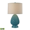 Acorn Ceramic LED Table Lamp in Deep Seafoam Glazed Ceramic