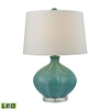 "Dimond 24"" Organic Ceramic LED Table Lamp in Seafoam Glaze"