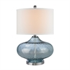 "24"" Bulbus Sea Glass Table Lamp in Light Blue"