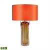 "Dimond 25"" Ferrara Free Blown Glass LED Table Lamp in Amber"