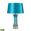 "Dimond 25"" Vergato Free Blown Glass LED Table Lamp in Blue"