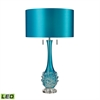 "25"" Vignola Free Blown Glass LED Table Lamp in Blue"
